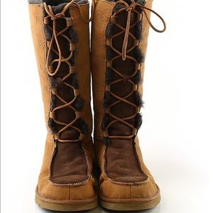 Uggs lace-up boots